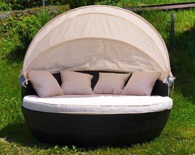 xxl sonneninsel strandkorb sonnenliege lounge rattan - XXL Sonneninsel Strandkorb Sonnenliege Lounge Rattan